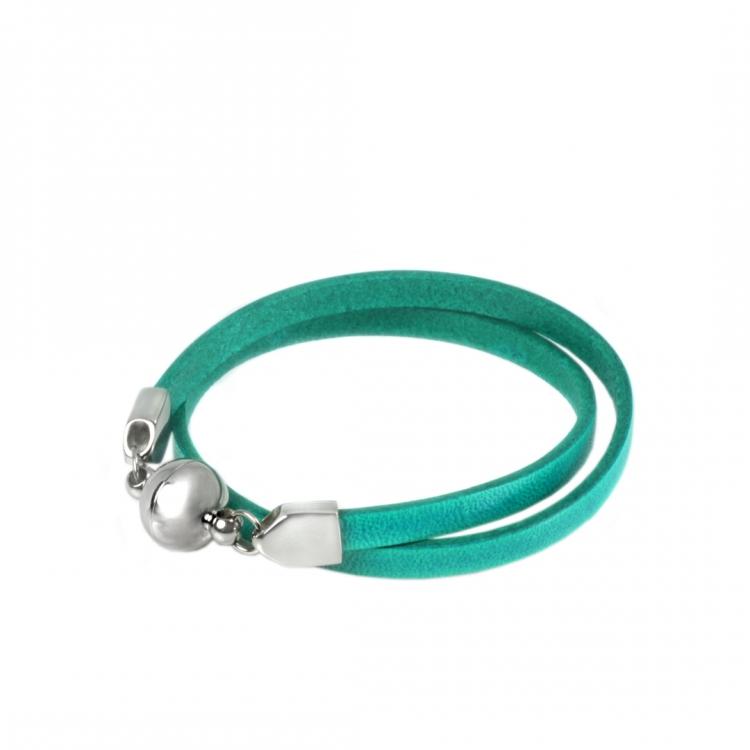 Wickelarmband SAMBA aus Rindleder, Magnetverschluss