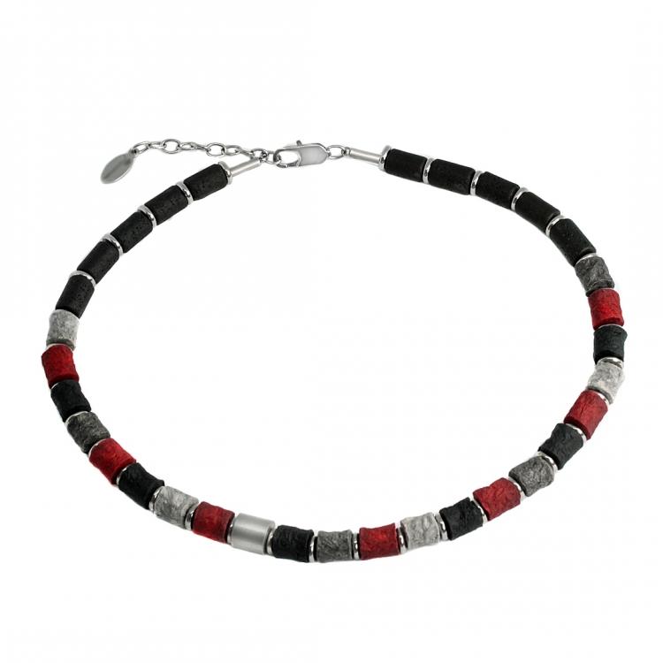 Halskette BLACK TAO aus LinColor