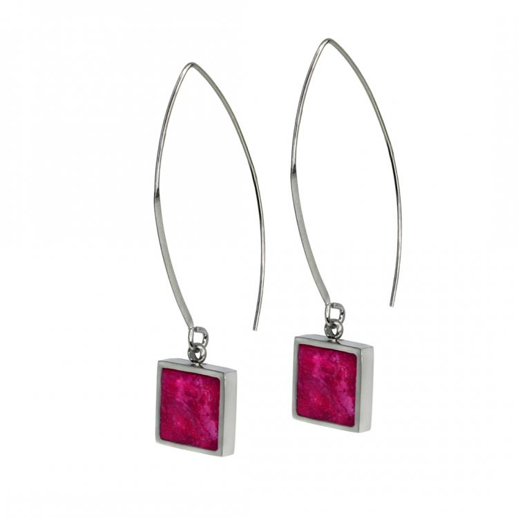 Paar Ohrringe ALAS S, quadratisch