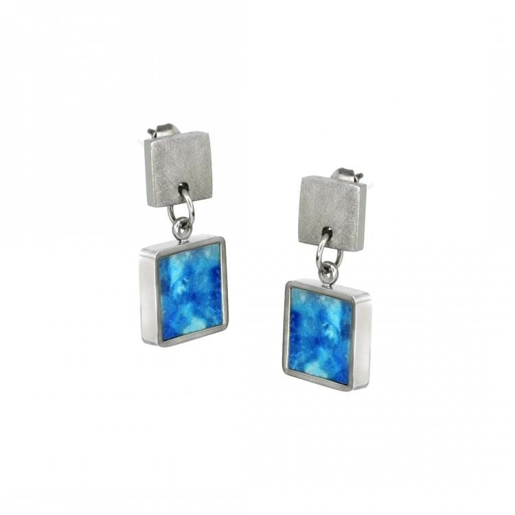 Paar Ohrringe MIO S, quadratisch