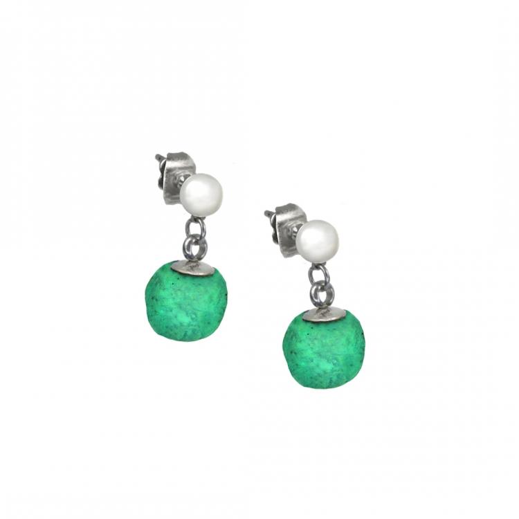 Paar Ohrringe NOA mit Zuchtperle, 10mm