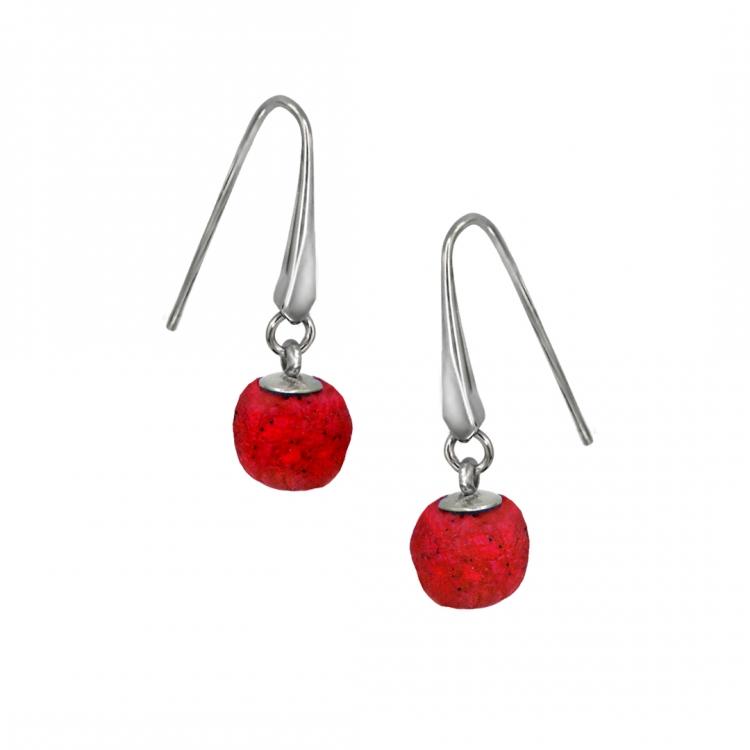 Paar Ohrringe WING mit BEAD, 10mm
